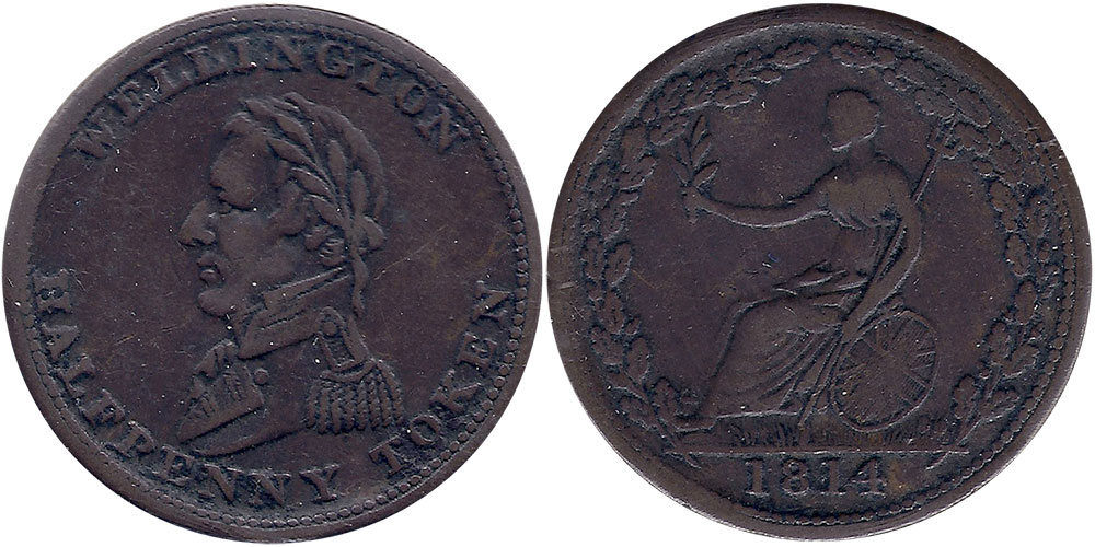 VF-20 - 1/2 penny 1814