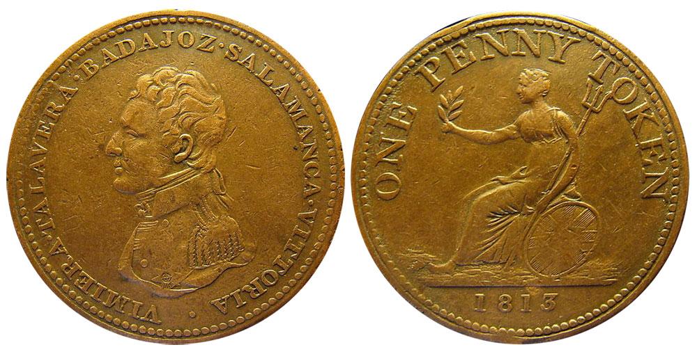 VF-20 - 1 penny 1813