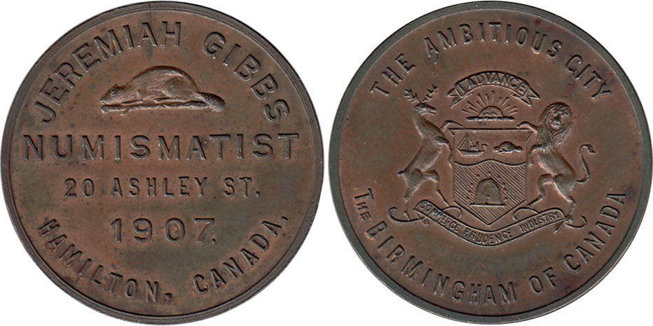 Jeremiah Gibbs - Numismatist