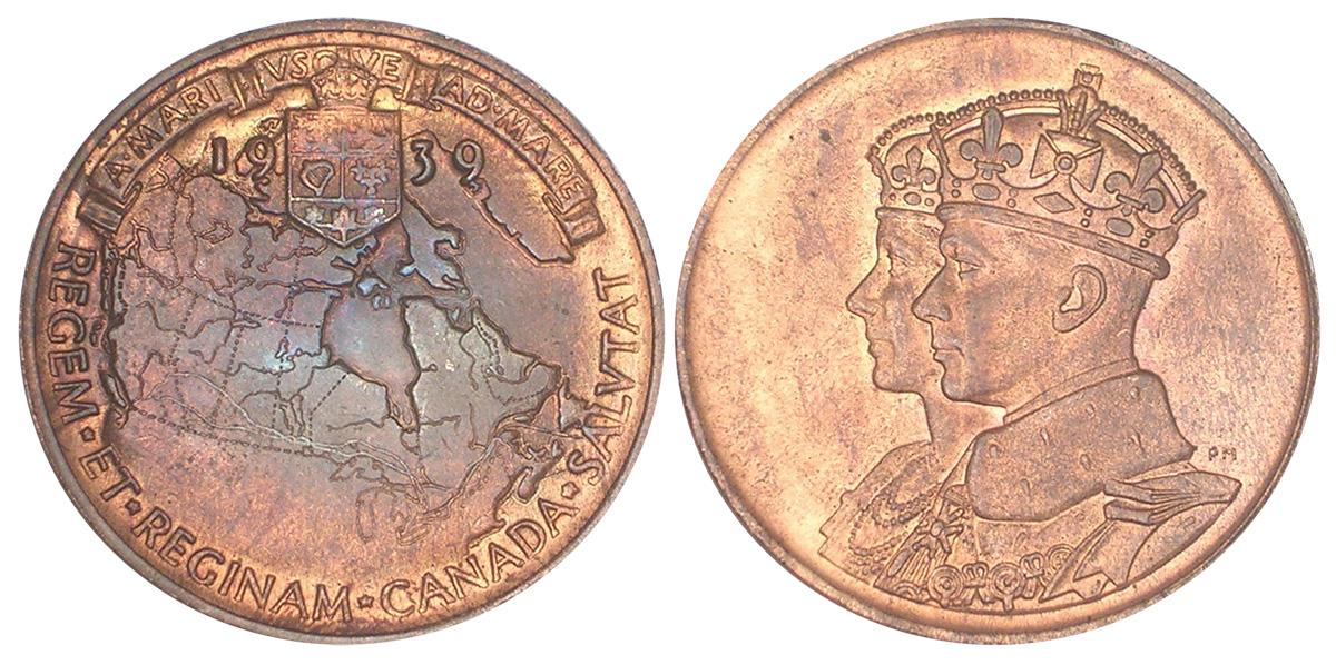 1939 Canada Commemorative $1 Silver Coin Unc MS