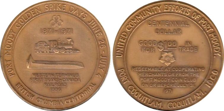 Port Moody - Centennial Dollar