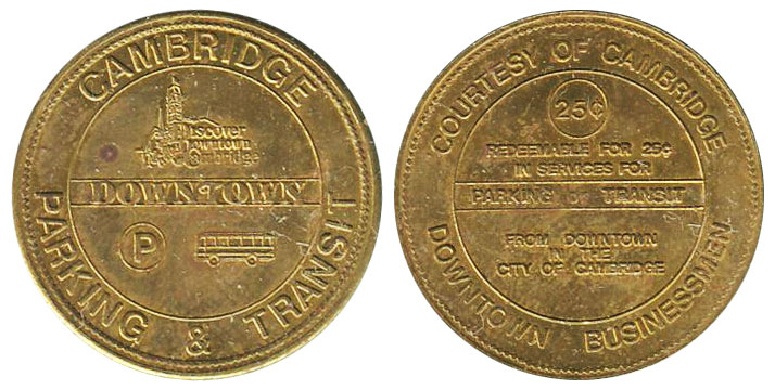 Cambridge Parking & Transit - 25 cents