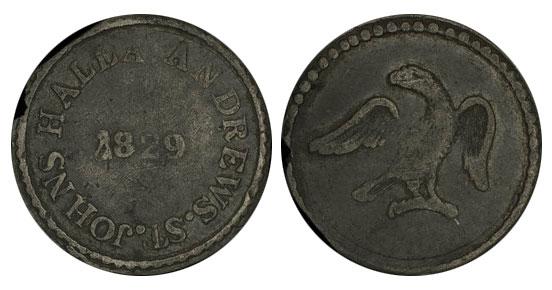 Halla Andrews - 1 farthing 1829