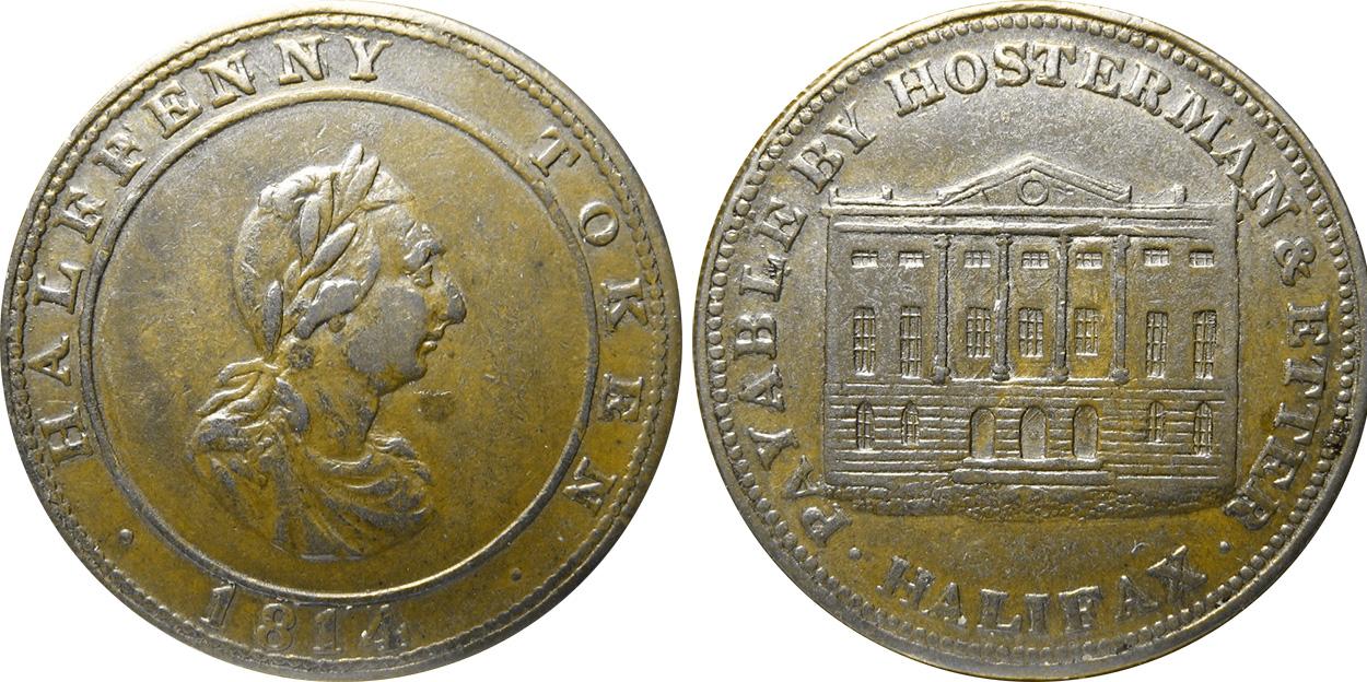 Hosterman & Etter - 1/2 penny 1814