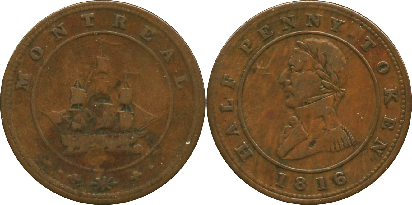 Montreal - 1/2 penny 1816