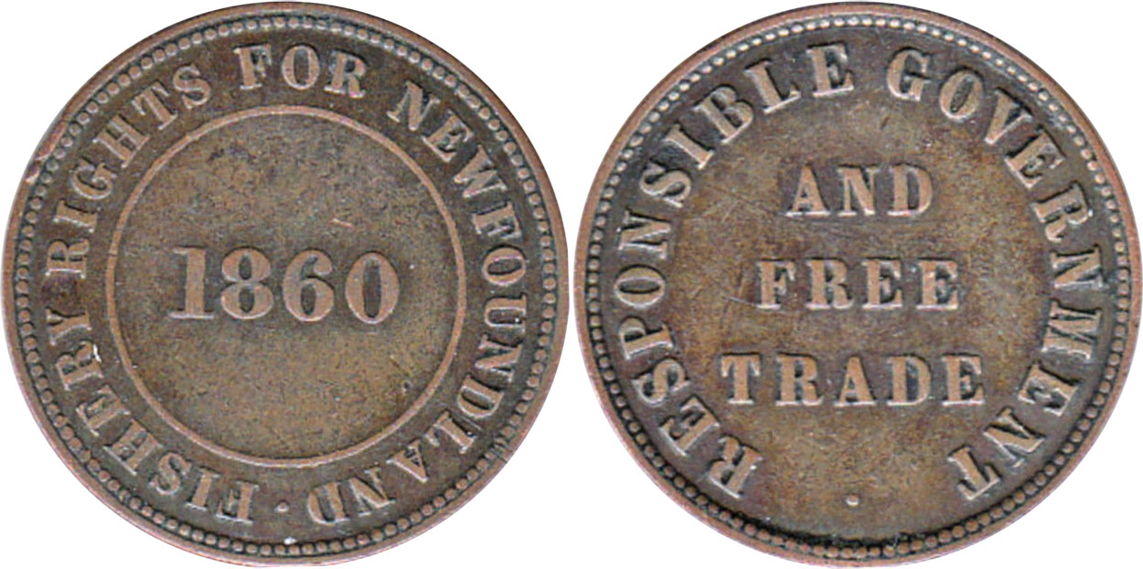 Fishery rights - 1/2 penny 1860
