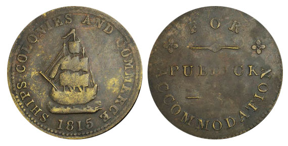 Public accomodation - 1/2 penny 1815