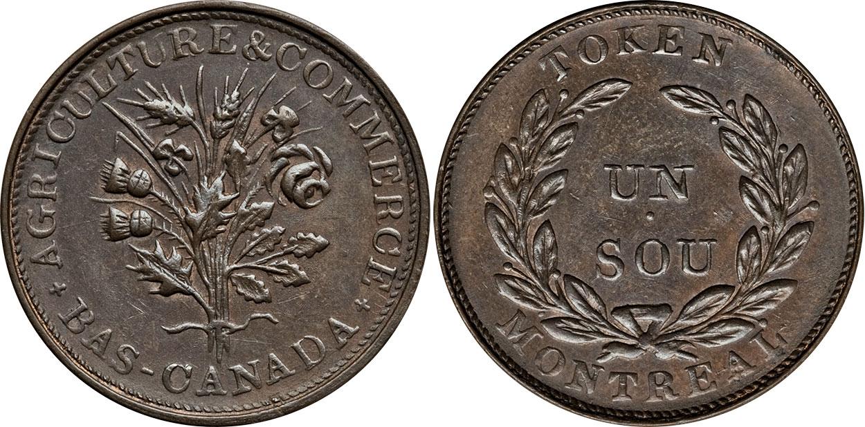 Bouquet - 1 sou 1838