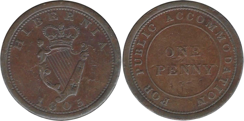 Hibernia - 1 penny 1805