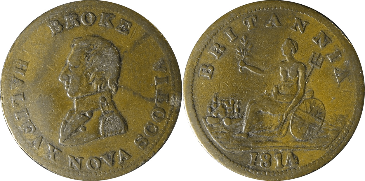 Broke - 1/2 penny 1814 - Short Bust