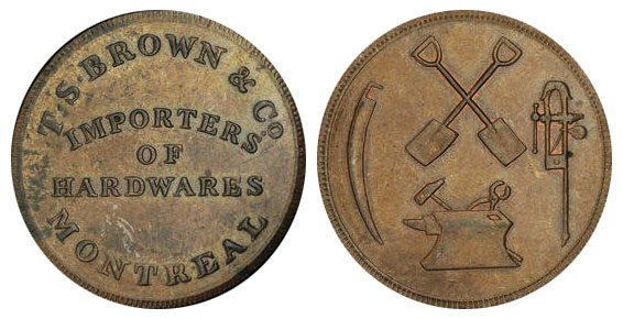 T.S. Brown & Company - 1/2 penny 1837