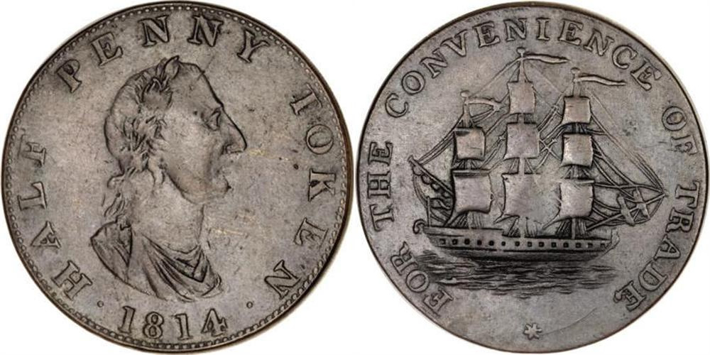 Carritt & Alport - 1/2 penny 1814