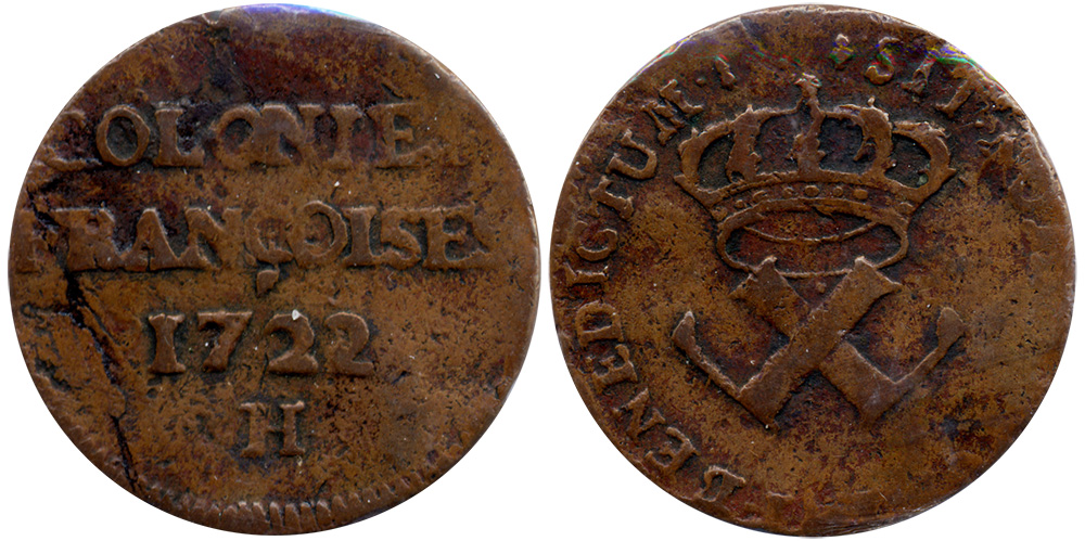 Colonies Fran�oises - 1721H