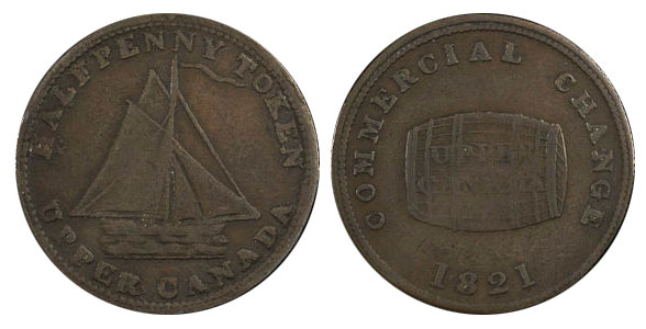 Commercial Change - 1/2 penny 1821