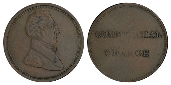 Commercial Change - 1/2 penny 1830