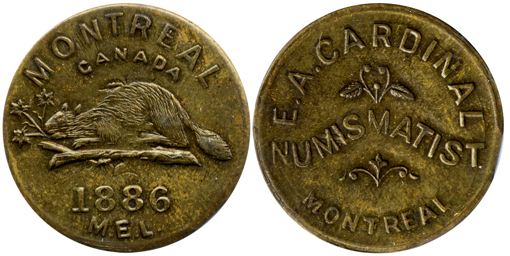 E.A. Cardinal - Numismatist - Montreal