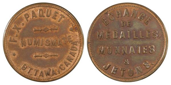 F.X. Paquet - Ottawa - Numismate