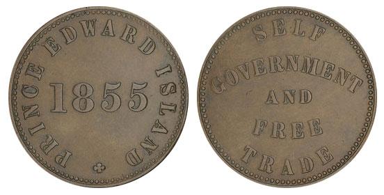 George Davies - 1/2 penny 1855 - Edward