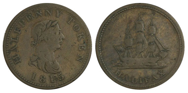 Halifax - 1/2 penny 1815