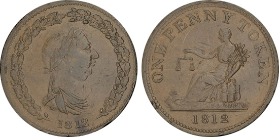 Thomas Halliday - 1 penny 1812