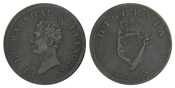 Hibernia - 1/2 penny 1805