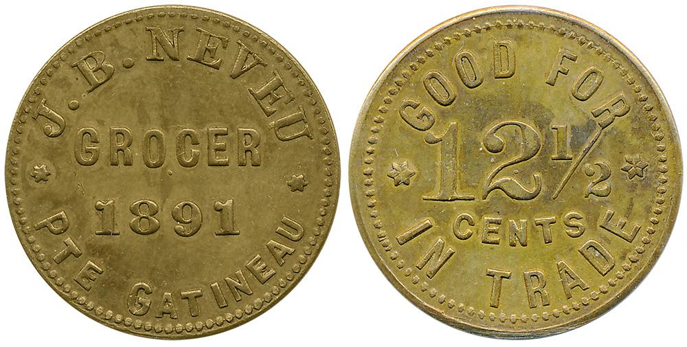 J.B. Neveu - Gatineau - Grocer - 1891