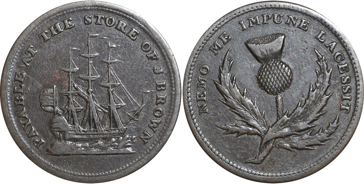 J. Brown - 1/2 penny 1815
