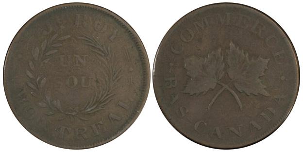 J.H. Roy - 1 sou 1838