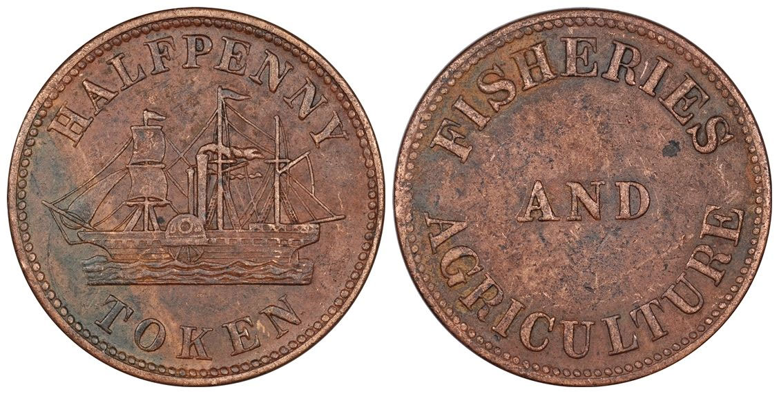 James Duncan & Co. - 1/2 penny 1858