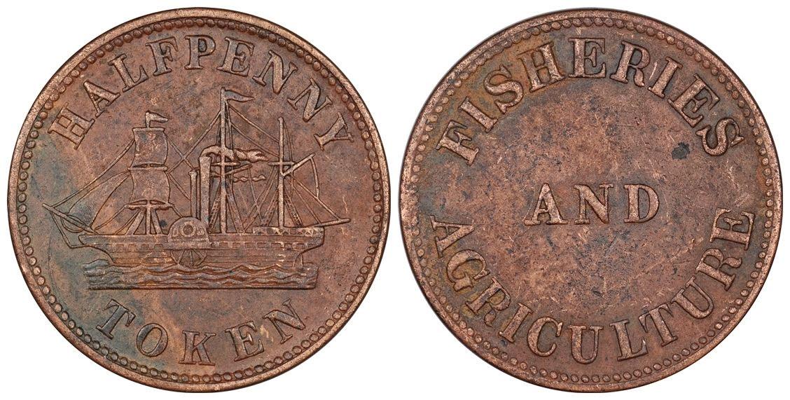 James Duncan & Co. - 1/2 penny 1858