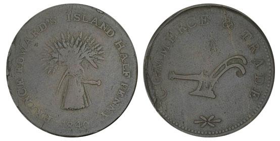 James Millner - 1/2 penny 1840