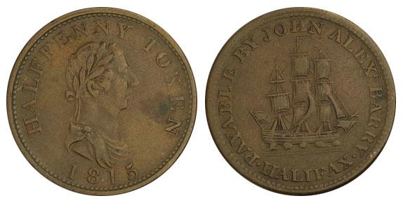 John Alexr. Barry - 1/2 penny 1815