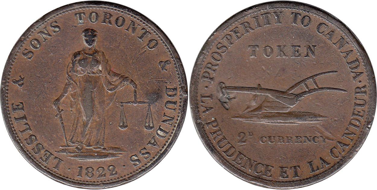Lesslie & Sons - 2 pence 1822