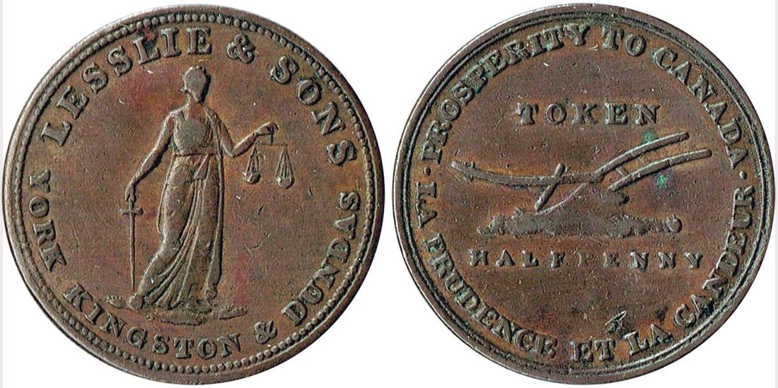 Lesslie & Sons - 1/2 penny 1824