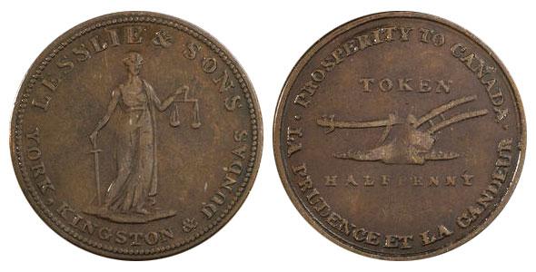 Lesslie & Sons - 1/2 penny 1828