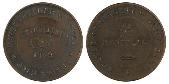 Maysenholder & Bohle - 1/2 penny 1849