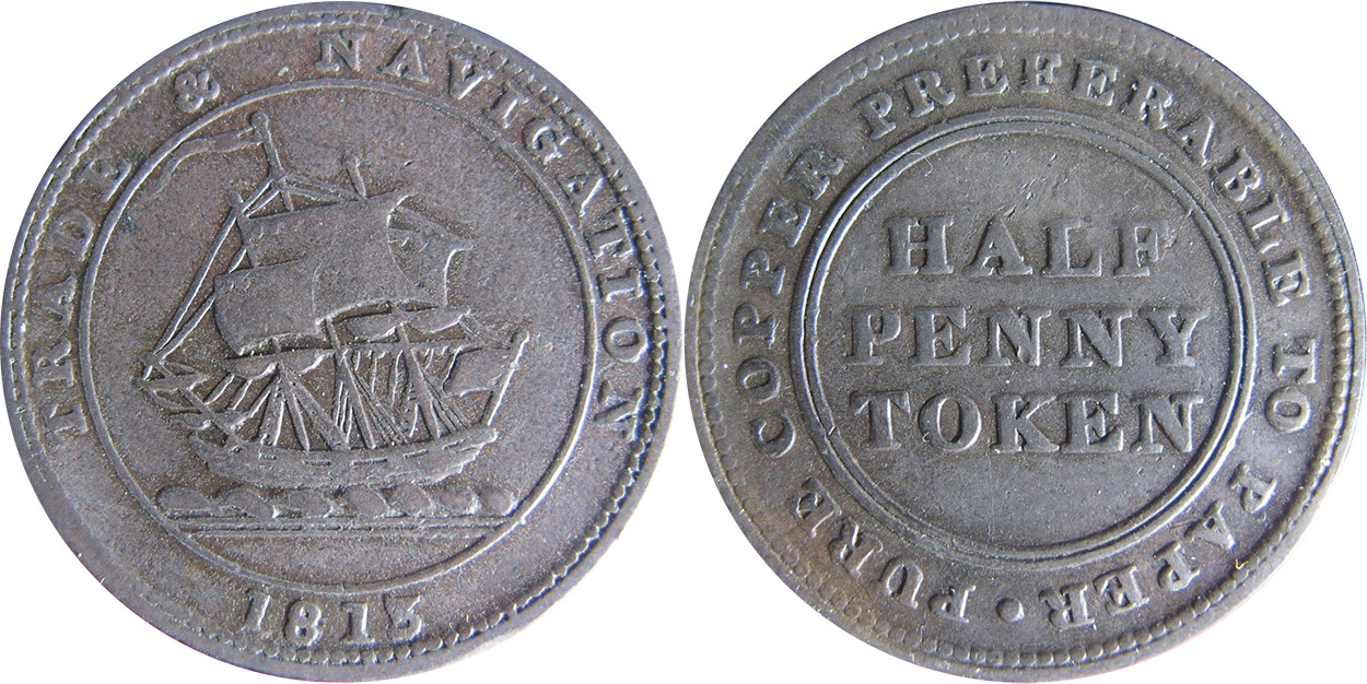 Trade & Navigation - 1/2 penny 1813