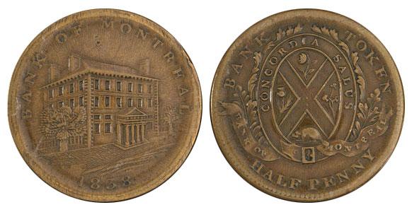 1/2 penny 1838