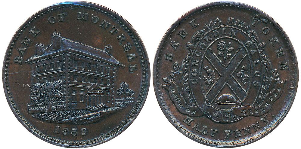 1/2 penny 1839