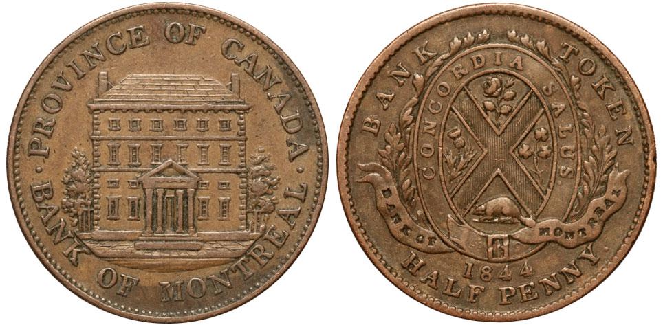 1/2 penny 1844