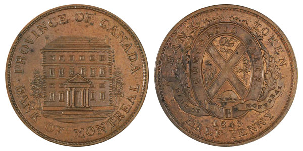 1/2 penny 1845