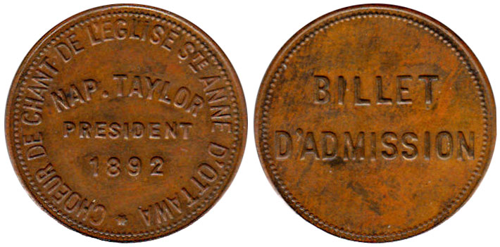 Nap. Taylor - Ottawa - 1892
