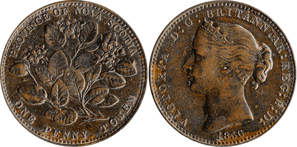 Nova Scotia - 1 penny 1856