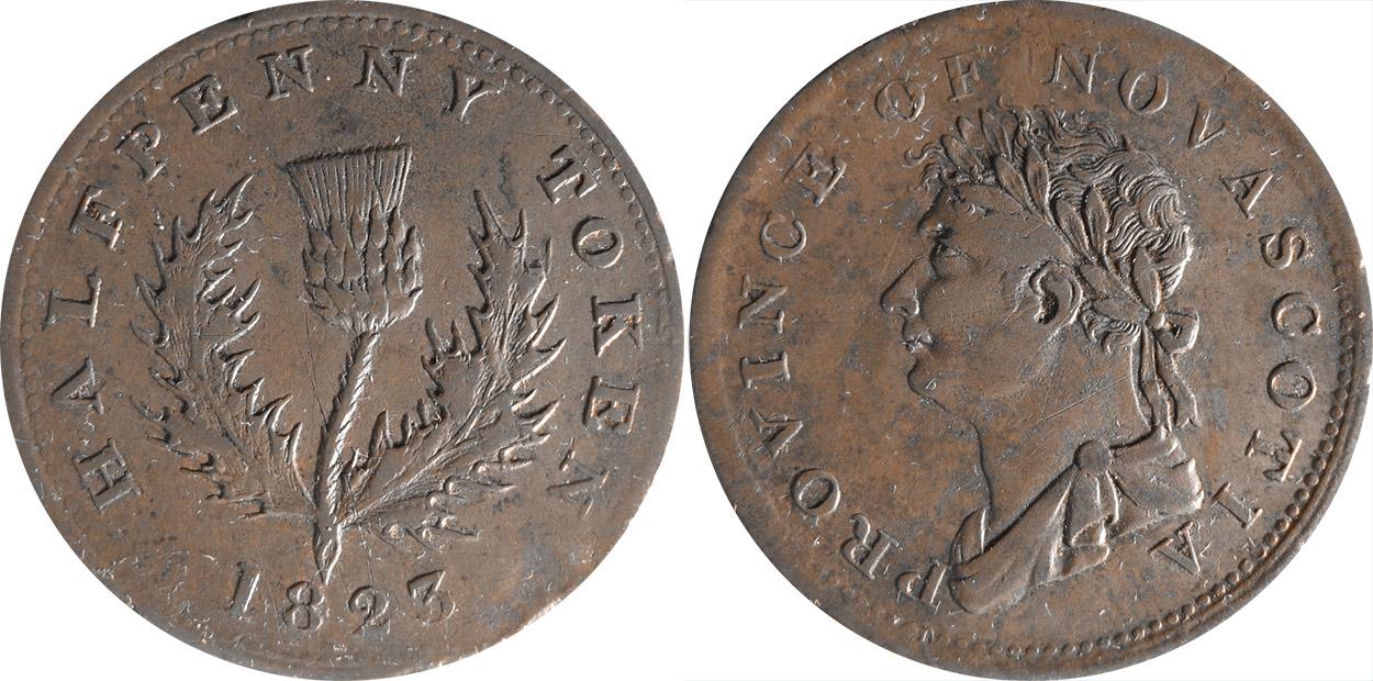 Nouvelle-Écosse - 1/2 penny 1823 - Sans union