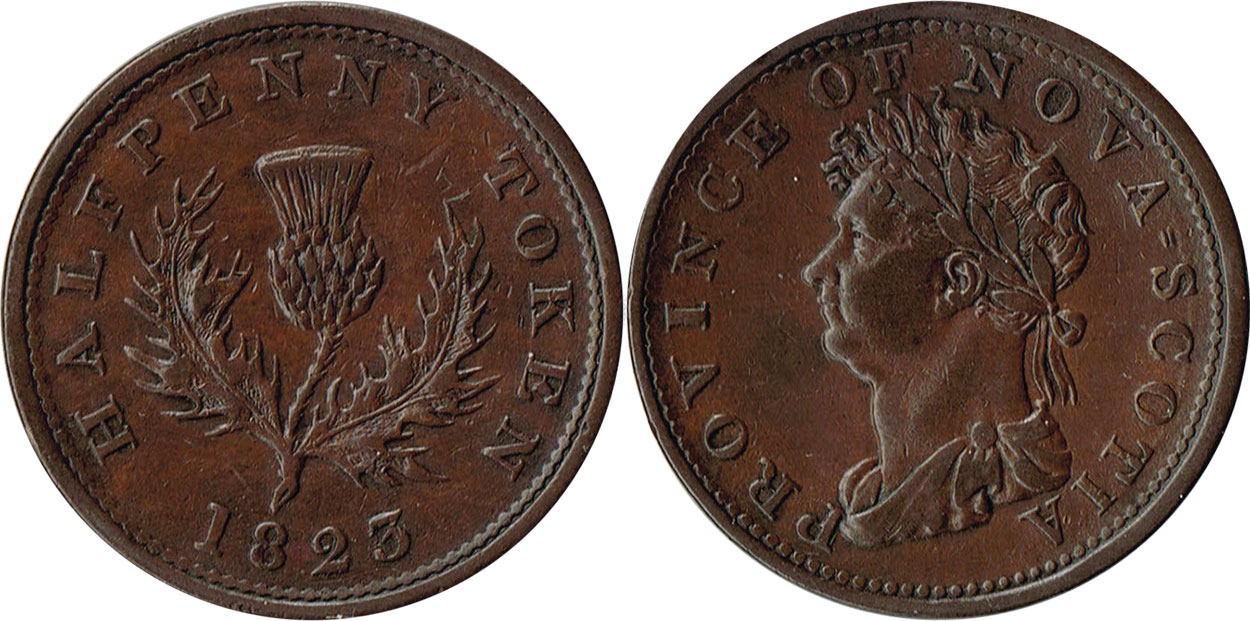 Nova Scotia - 1/2 penny 1823 - With hyphen