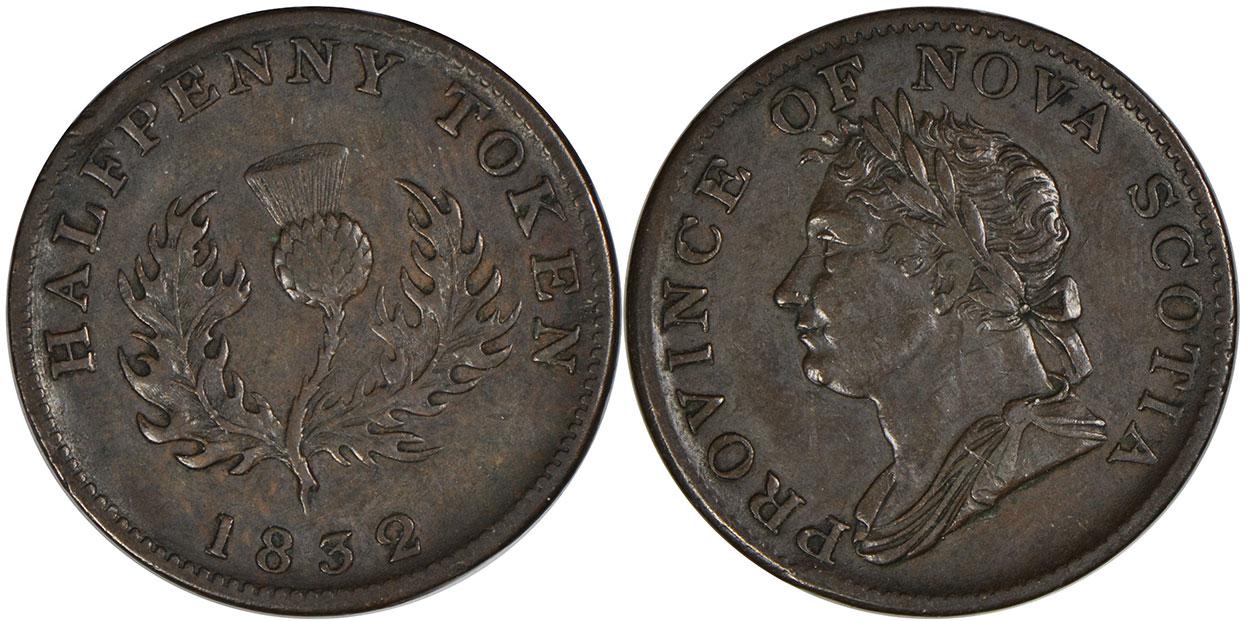Nova Scotia - 1/2 penny 1832