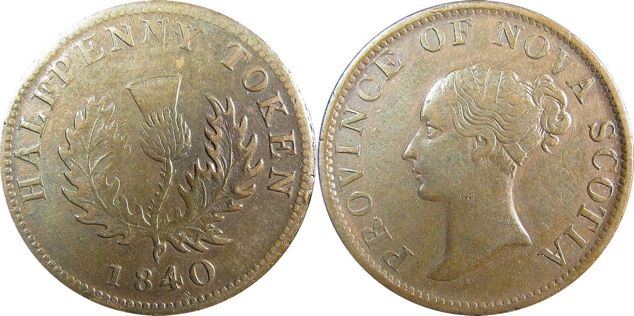 Nova Scotia - 1/2 penny 1840