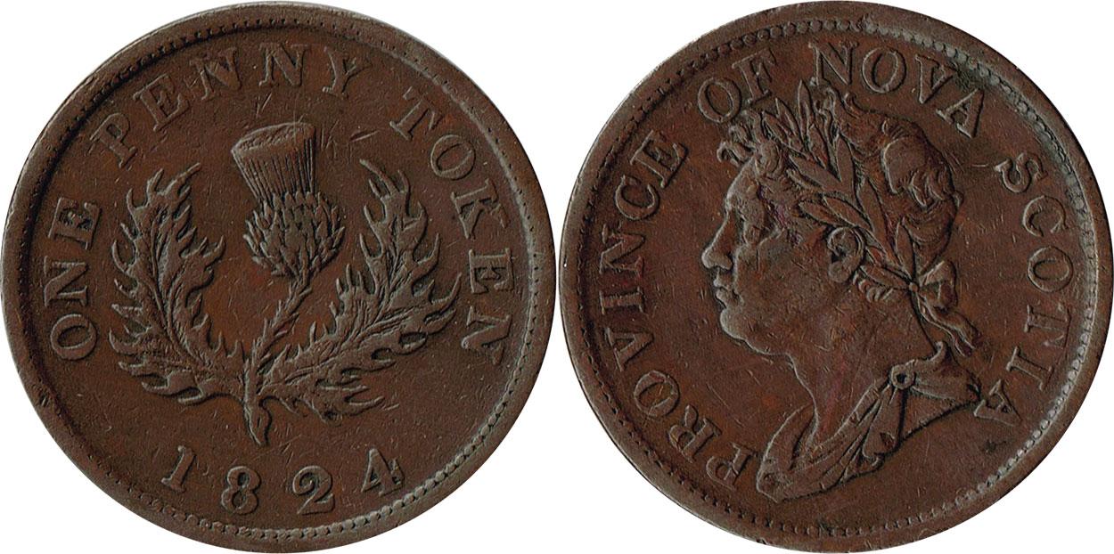 Nova Scotia - 1 penny 1824