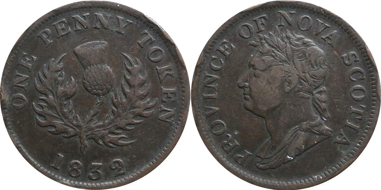 Nova Scotia - 1 penny 1832