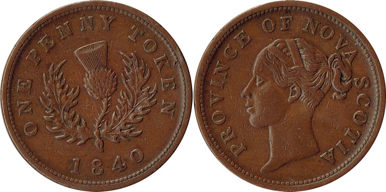 Nova Scotia - 1 penny 1840